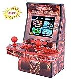 ZHISHAN Mini Arcade Console de Jeu Portative Joueur Cadeau d'anniversaire pour Enfants Construit en 183 Classique Double Jeux de Jeu avec 2.8 'Grand écran LCD (Rouge)