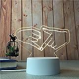 Regalo creativo 3D piccola luce notte testa letto ha portato oscuramento tavolo luce regalo regalo widget Spunta il dito.