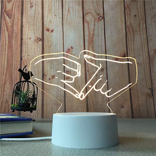 Kreative sende 3D kleine Nacht Licht Bett Kopf led Dimmen Tisch Licht Geburtstag Geschenk Handwerk Widget Tick enden Sie mit dem Finger. -