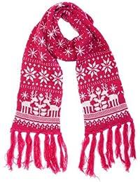 Femme écharpe en tricot maille épaisse flacon de neige