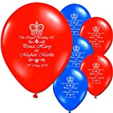 Royal Wedding Prince Harry Meghan Markle Party Supplies United Kingdom (10 Latex Balloons)