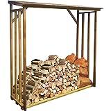 Demmelhuber Kaminholzregal ELBE Kiefer KDI 2,1 m³ Holzunterstand Brennholzregal Holzlager 1,96 x 0,82 x 1,97 m Kaminholzschrank