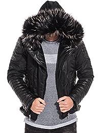 Manteau jeans noir