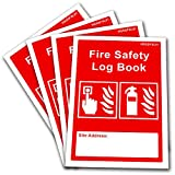 4 x Fire Safety Log Book - Business & Landlord - Checks, Tests & Maintenance Record
