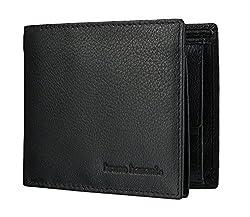 bruno banani Geldbörse für Männer aus Echt Leder, Herren Ledergeldbeutel im Querformat - Klassisch Schwarz 4114
