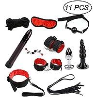 Amosfun Restraint Kits Cosplay Flirt Set unter dem Bett Pros mit Handschellen Vibrator Plug für Männer und Frauen... preisvergleich bei billige-tabletten.eu