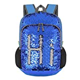 Best Backpacks For Boys - Bekahizar 20L Reversible Sequin Backpack Glittering Bling Mermaid Review