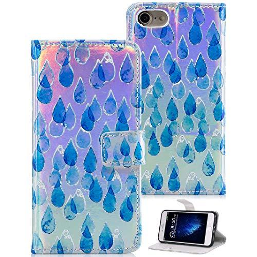 ToMoYi iPhone 8 Hülle, Premium Leder Brieftasche Handy Schutzhülle Tasche Flip mit Standfunktion, Kartenfach und Magnetverschlus Etui Schale für Apple iPhone 7 iPhone 8 Design Relief
