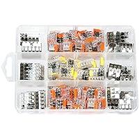 ViD - Surtido 150 unidades palanca pinzas UC y cajas de conexiones abrazadera C2073 en caja de plástico
