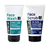 Ustraa Face Wash for dry to normal skin and Ustraa Scrub De-tan