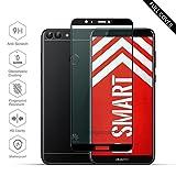Beyeah [2 Stück] Panzerglas Bildschirmschutzfolie für Huawei P Smart, Ideal verbesserte Version, Full Glue Coverage, 9H Härte, (Schwarz)