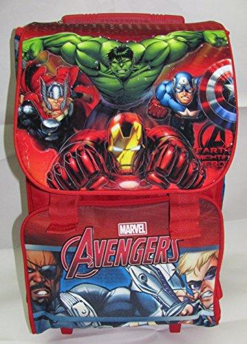 Avengers - zaino scuola trolley estensibile originale avengers - prodotto ufficiale marvel