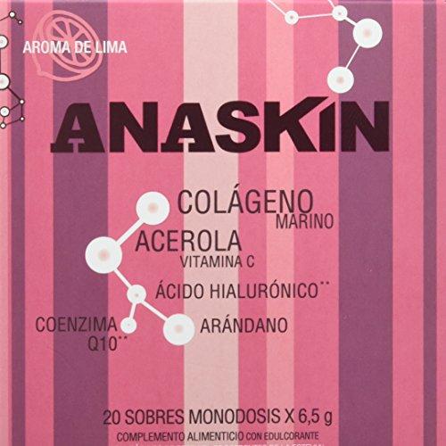 Anaskin Sobres Colágeno, Ácido Hialurónico, Coenzima Q10, Acerola y Arándano 130 g - 20 Unidades
