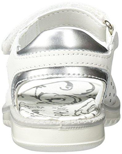 Primigi Pat 7609, Sandales  Bout ouvert fille Blanc (Bianco/argento)