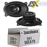 FIAT Ducato 230 Front - Lautsprecher Boxen ESX HZ462 | 9 x 15 cm (4x6er) | 2-Wege Koax Lautsprecher Boxen | Horizon HZ 462 | Auto Einbauzubehör - Einbauset