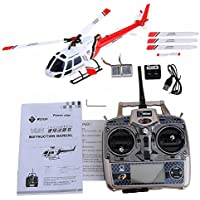 Haibei WLtoys V931 6CH 2.4G Brushless Scala Flybarless Rc Elicottero di Telecomando con la Girobussola 3D del volo a Tutto Tondo (Rosso)
