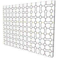 "Hat&C Modern Art Home Decor Computer Inspired Bone Shaped Bound Subway Net Motif Urban Display Design Multipainting 12"" X 16"" Panoramic Canvas Wall Art"