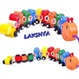 Lakshya Wooden Number/Digital Train Blocks Set Toys For Kids And Toddlers,Best Educational Set Of Trains With Fun And Colorful 1-10 Number Figures Train Model Toys For Boys & Girls Christmas Gift