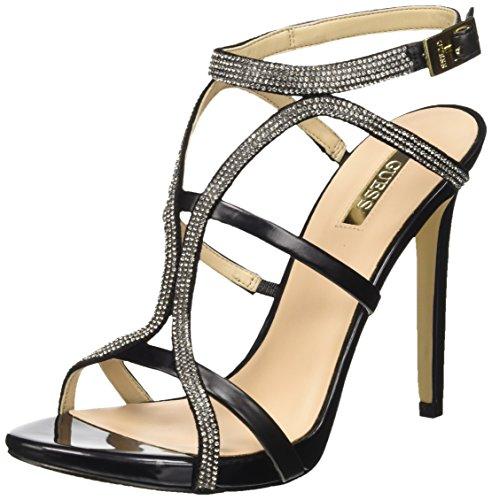 Guess Adalee3 Sue03, con Cinturino alla Caviglia Donna, Nero, 37 EU