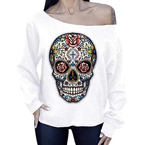 Damen V-Ausschnitt Casual Pullover Button Down Gestreiftes Shirt Print Waffel Stricken Sweater Knoten Oberteile Top Valentinstag Bierfest - Waffel-stricken T-shirt