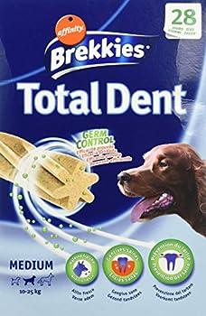 Brekkies Excel Friandise pour Chiens Medium (10-25kg) Hygiène Bucco Dentaire Total Dent 720 g (28 Batonnets)