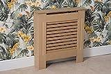 YAKOE Moderner Heizkörperverkleidung Holz MDF Wandschrank in 4 Größen, Unpainted, S