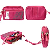 #8: Dmg Golla 5 Inch Multipurpose Big Capacity 2 Layers Waterproof Nylon Pouch / Belt Waist Bag / Pocket Money Purse For Phones And Cameras (Pink)