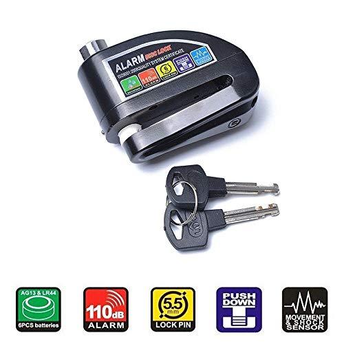 Candado Disco de Moto, Bloqueo Disco Con Alarma Hasta 110 dB Impermeable...