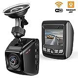 Dash Cam, Mini FHD 1080P 170° Weitwinkel Auto DVR Dashboard Kamera Video Recorder mit Sony Exmor Sensor, integrierte WiFi mit App, Loop Recording, G-Sensor 1080p