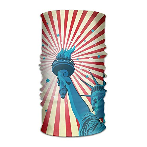 Statue of Liberty of American Multifunction Bandana Headband Athletic Headwear Sweatband,Magic Scarf,Neck Balaclava,Helmet Liner,Tube Mask,UV Resistence Outdoor Sport Yoga 9.8X19.7inches,25X50cm