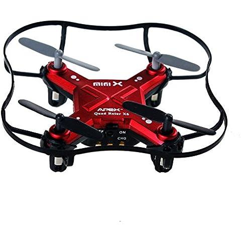Luxon Quark RC Quadcopter 4 canales 2,4 GHz 6 ejes Gyro Juguetes Mini Drone RTF GD50F (rojo)
