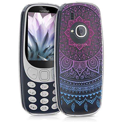 kwmobile Nokia 3310 (2017) Hülle - Handyhülle für Nokia 3310 (2017) - Handy Case in Blau Pink Transparent