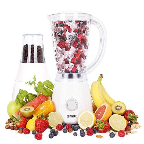 Duronic BL4 Frullatore e grinder/tritatutto 400W Caraffa 1.5l Blender mixer da cucina con macina caffè/spezie / noci
