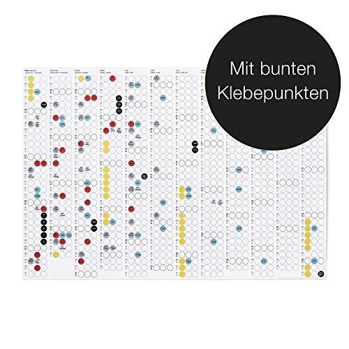 """dot on Jahreskalender -2020 - Bekannt Aus """"Die Höhle Der Löwen"""" - mit bunten Klebepunkten - Wandplaner Designkalender DIY Kalender"""