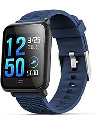 Semoic Reloj Inteligente Q9 con Monitor de frecuencia Cardiaca Reloj de presion Arterial Reloj Inteligente Soporte
