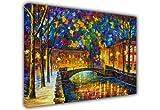 """Canvas It Up - Stampa di un quadro di città di Leonid Afremov, arte contemporanea, Tela, 5- A2 - 24"""" X 16"""" (60CM X 40CM)"""