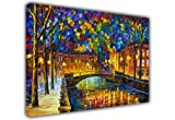 CONTEMPORARY ART CITY PAINTING BY LEONID AFREMOV CANVAS WALL ART PRINTS PICTURE PRINTING ROOM DECORATION CLASSIC PICTURES PHOTOS - Canvas It Up - amazon.co.uk