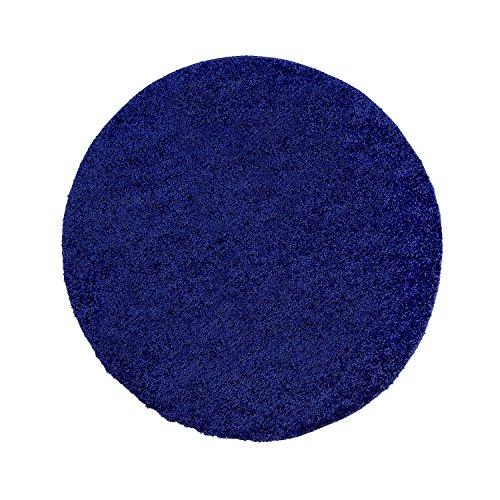 ... Shaggy Teppich, Flauschiger Hochflor Wohn Teppich, Einfarbig/ Uni In  Blau Für