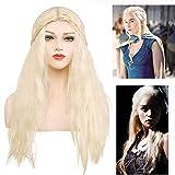 Daenerys Targaryen Parrucca Cosplay Trono di Spade Khaleesi Parrucca Capelli (biondo)