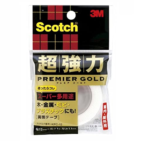 Sumitomo (3M) Scotch (R) super-strong double-sided tape Premier Gold (super versatile) 12mm x 1m KPC-12 (japan