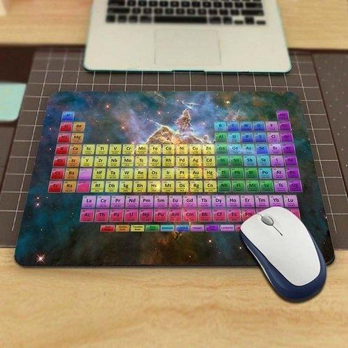 Tabla periódica Elementos y galaxia Niebla Alfombrilla Antideslizante, Resistente al agua 220x 180veredeln su escritorio con este elegante para ratón