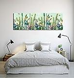 LB Giardino,pianta,farfalla,cactus_Moderno Pittura a olio Stampa foto su tela Arte muraria per soggiorno,camera da letto,decorazione domestica,3 pezzi 40x40,con cornice