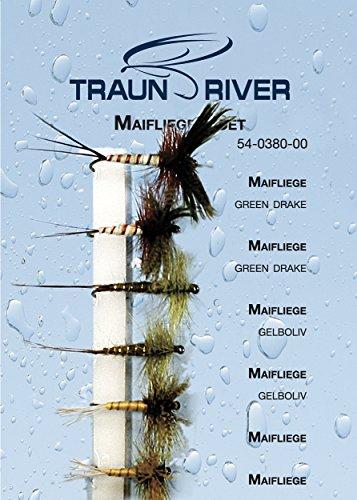Traun River Fliegensortiment Maifliegen-SetInhalt 6