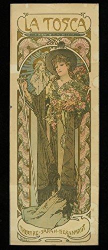 Spiffing Prints Alphonse Mucha - Sarah Bernhardt in The Role of La Tosca - Extra Large - Matte Print