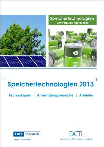 Speichertechnologien 2013 - Märkte und Anbieter auf einen Blick