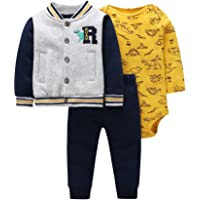 Odziezet Baby Long Sleeve Hoodie + Bodysuit + Pants Trousers Newborn Girl Boy Autumn Winter Clothes Outfits 0-24 Months