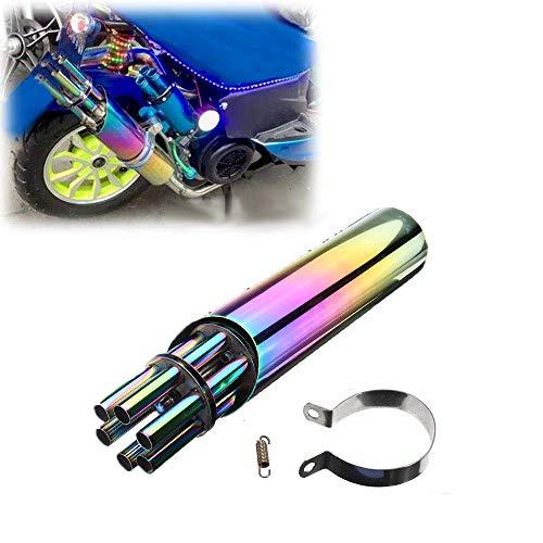 CX Best Auspuffrohr drehen Schöner Auspuff Lokomotive Teile einbauen Ritter ist das perfekte Outfit Universal für Motorrad ATV Dirt Bike - Bunt