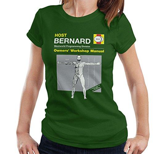 Host Bernard Owner Manual Westworld Women's T-Shirt Bottle Green
