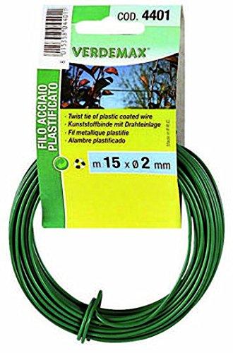 Verdemax 4401 2 mm x 15 m bobine de fil en acier rond