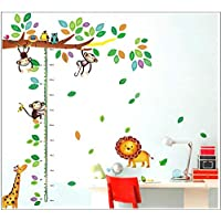 DIY Removable Wall Stickers For children Room Home Decor - Monkey height paste
